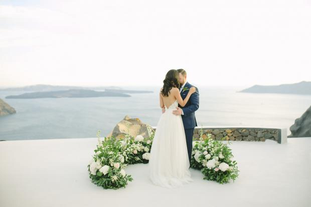 Modern wedding ceremony in Greece- Tie the knot Santorini