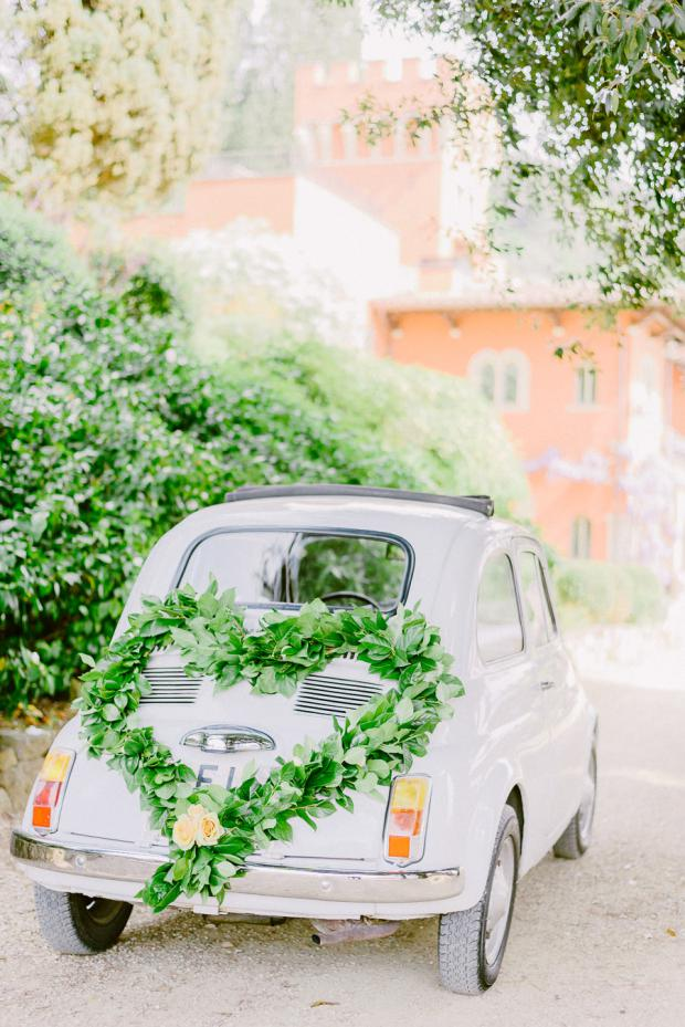 Vintage Italian bridal car- Fiat 500