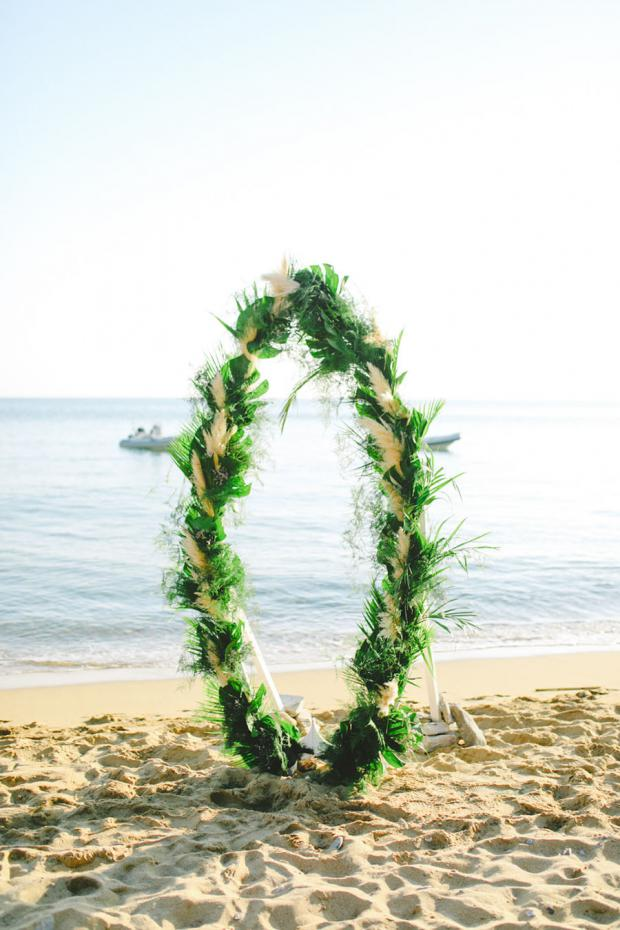 Surf wedding arch- wedding in Greece