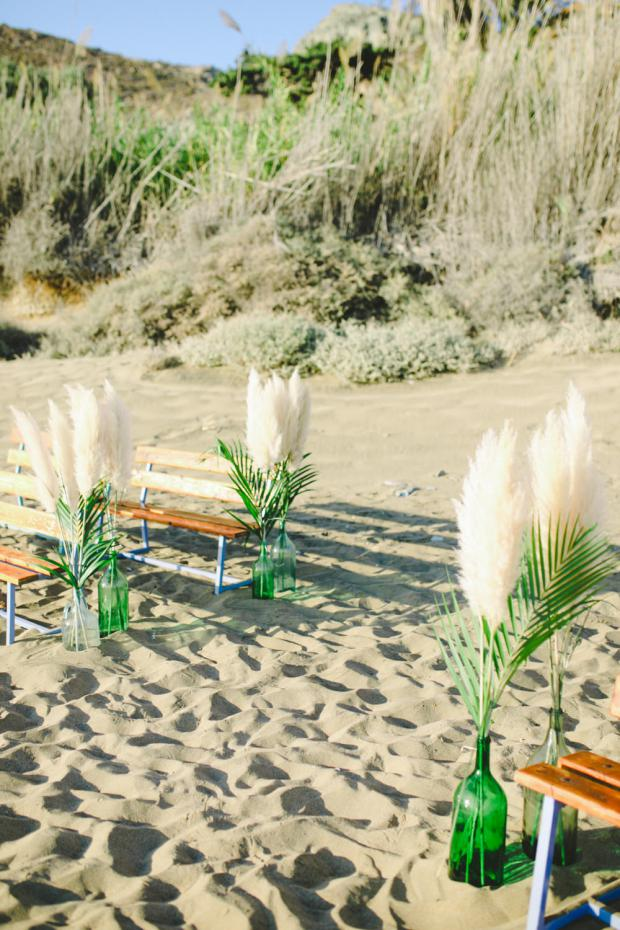 Beach wedding aisle - botanical wedding