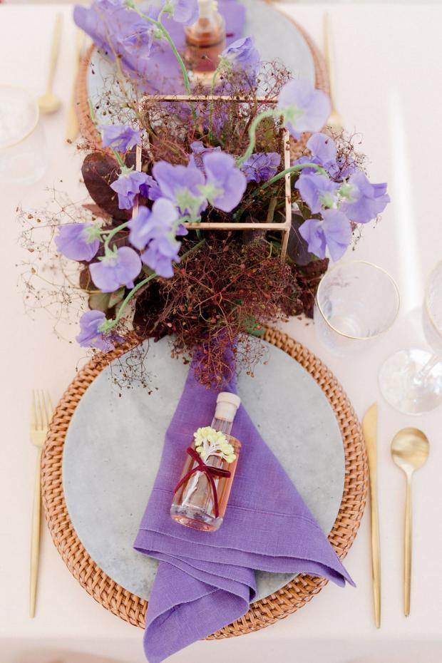 colourful wedding tablescape