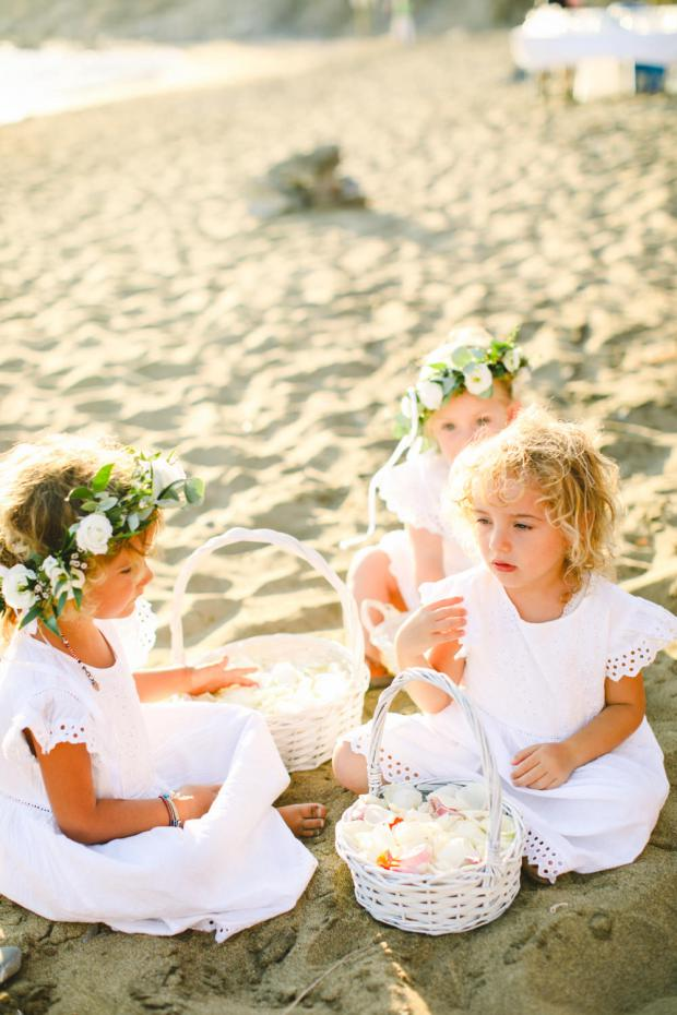 Flower girls - Destination wedding in Greece