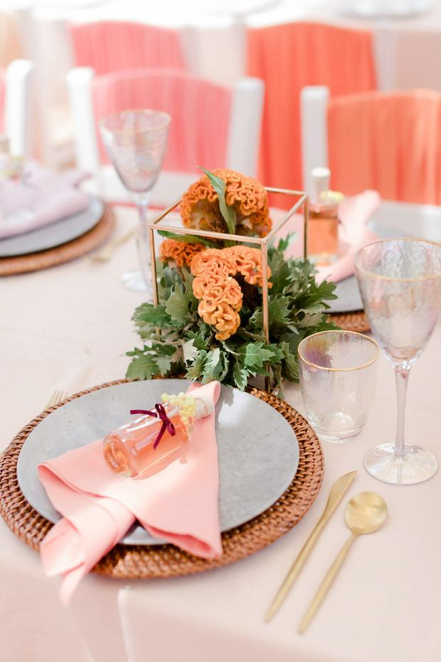 colourful wedding tablescape