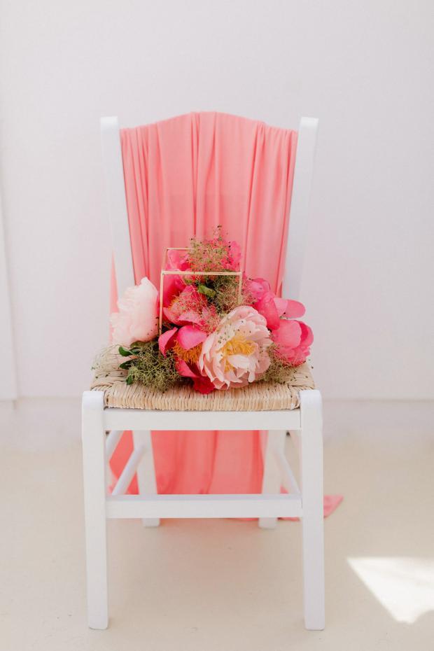 Colourful wedding centerpiece