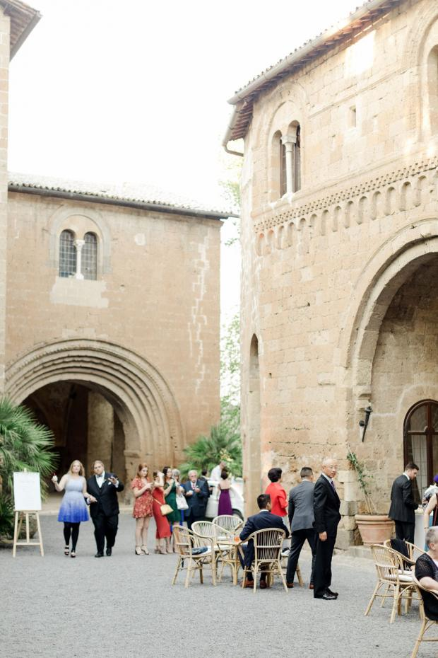 Cocktail hour-Italy wedding
