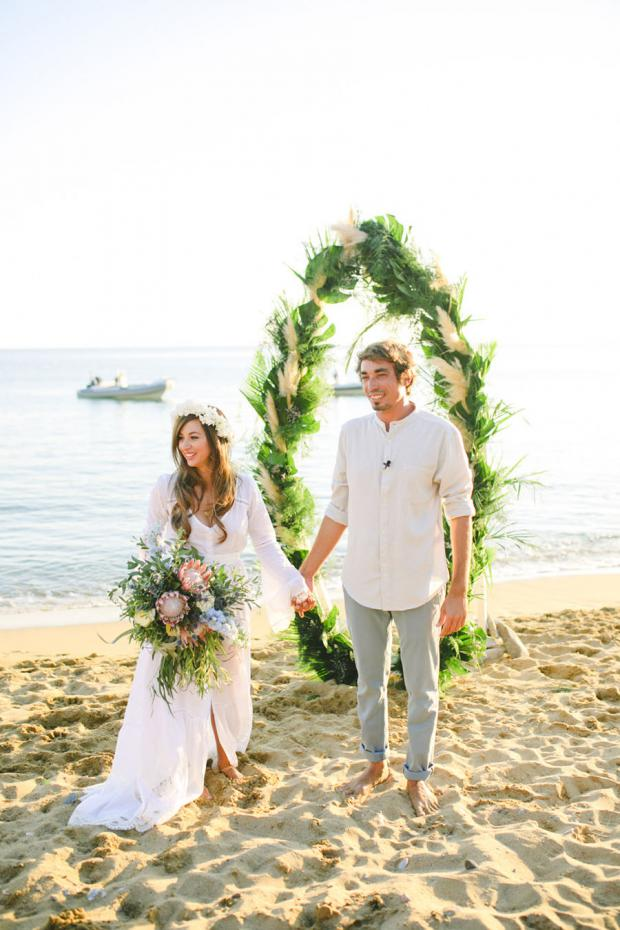 Surf wedding in Greece- Tie the knot in Greece