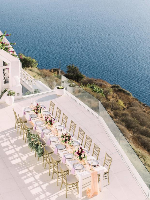 Wedding dinner in Santorini- Greece