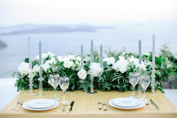 Wedding tablescape- Greece wedding
