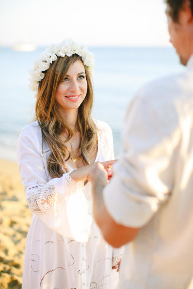 Beach wedding - White flower crown