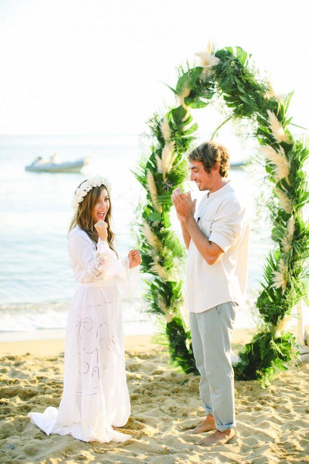 Surf wedding in Greece