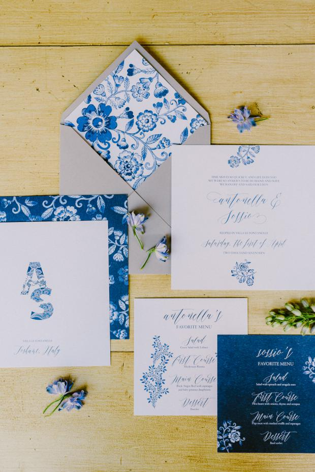 Wedding Stationery - Tuscany wedding