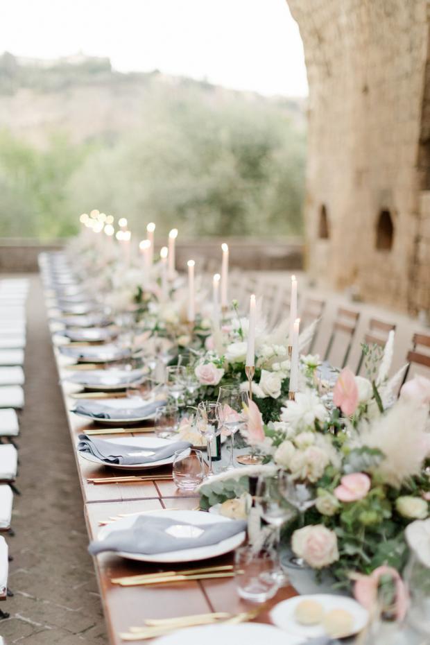 Wedding tablsecape -romantic wedding