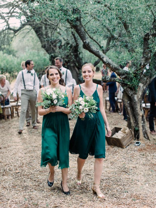 Greenery wedding - bridesmaids