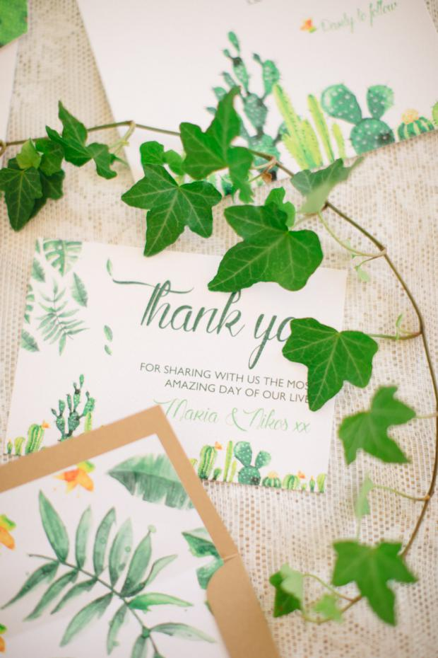 Pantone Greenery wedding stationary