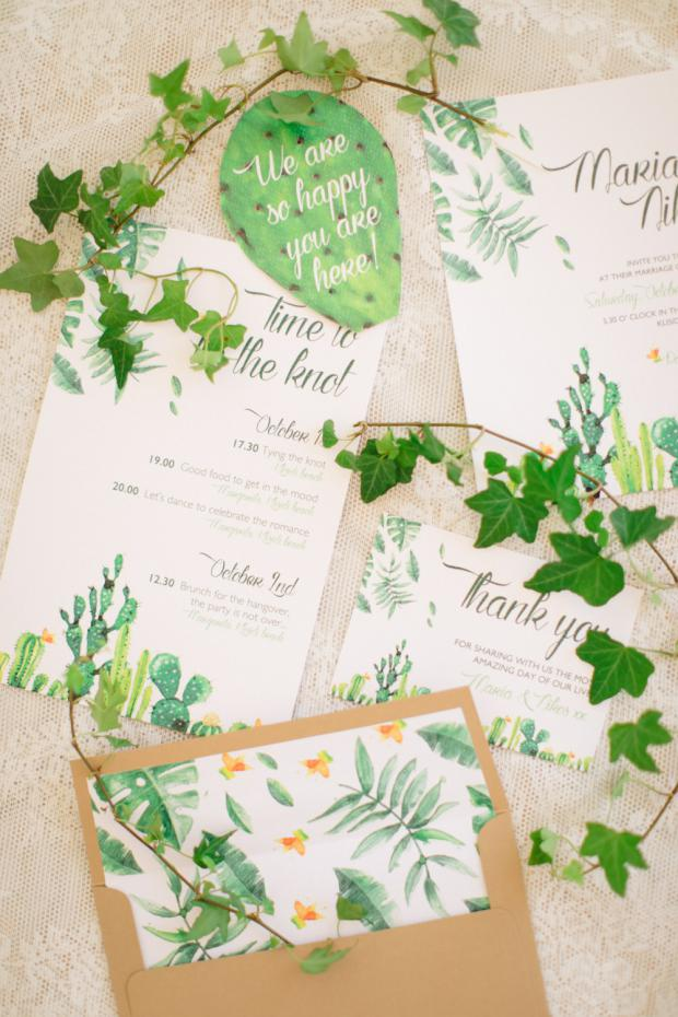 Botanical wedding stationary