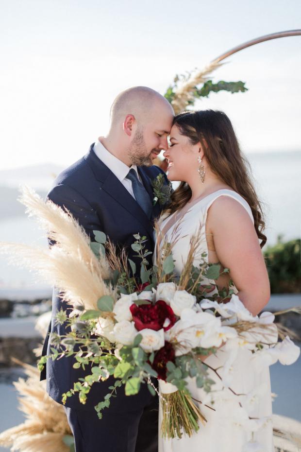 Fall wedding in Santorini- Greece