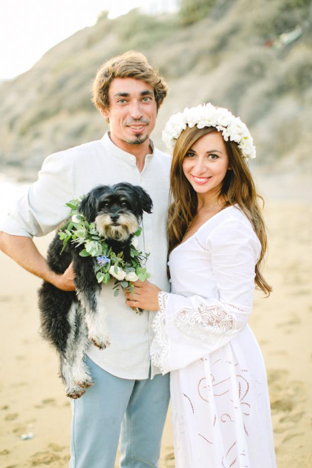 Bohemian wedding in Greece- Wedding dog