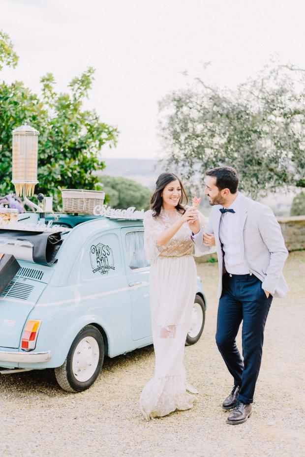 Fiat 500 ice cream cart - Tuscany wedding