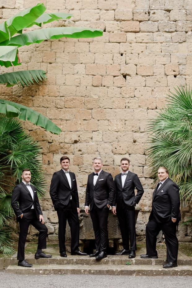 Wedding at La Badia di Orvieto Italy-Groomsmen