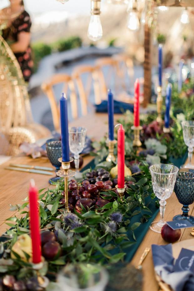 Fruits wedding table  runner