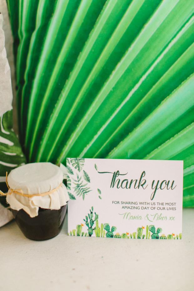 Wedding favour and thank you cards