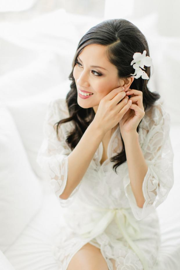 Bridal preparations - bridal hairstyle