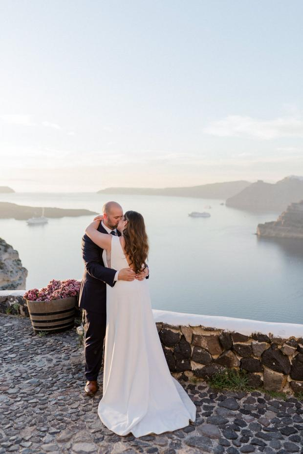 Winery wedding in Santorini, Greece