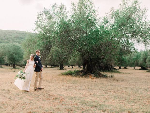 This could be a wedding in Tuscany- It is Kefalonia Greece