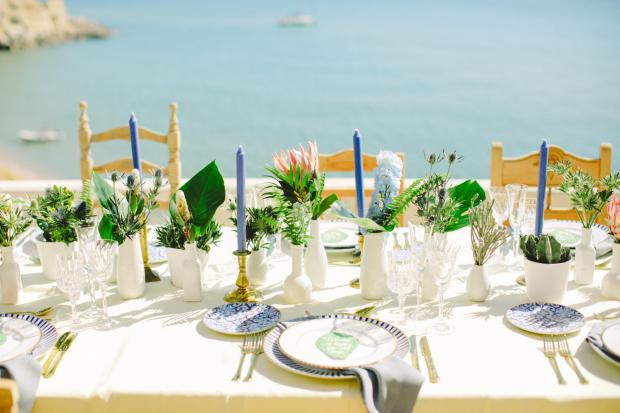 Tablescape  Greenery wedding in Greece