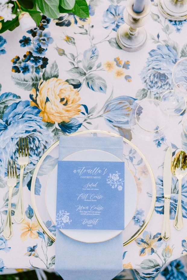 Wedding stationery-wedding menu