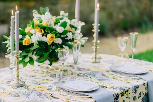 Wedding dinner details - elegant wedding in Tuscany