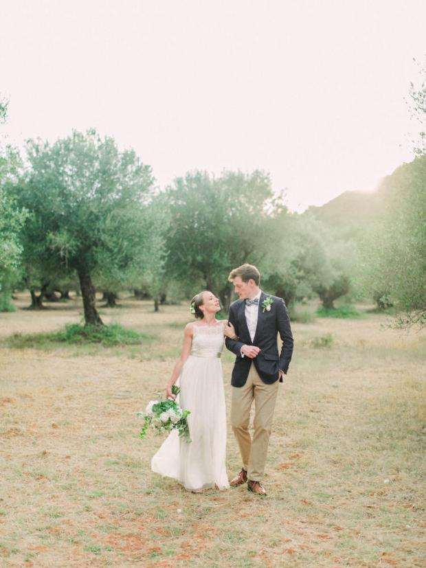Wedding ceremony under an ancient olive tree in Greece