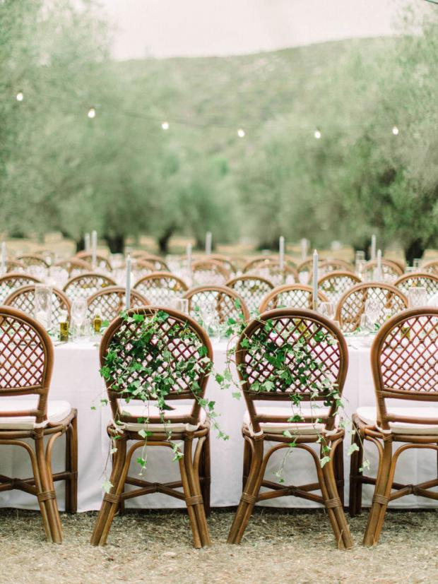 Bride and groom chairs -Tuscany wedding