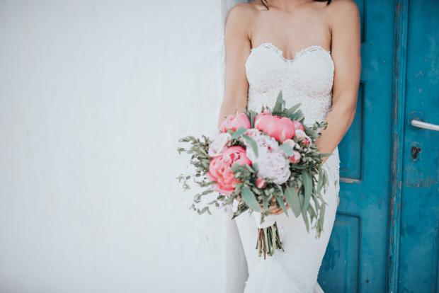 Gorgeous Peony bouquet- Santorini
