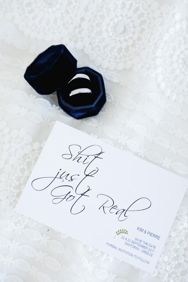Wedding  rings & stationery