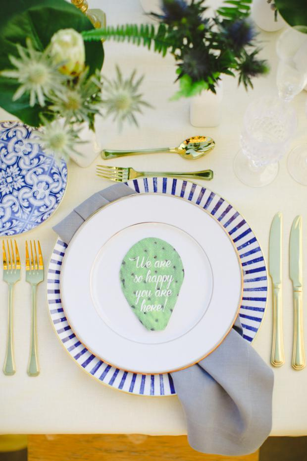 Greenery wedding- tablescape detail