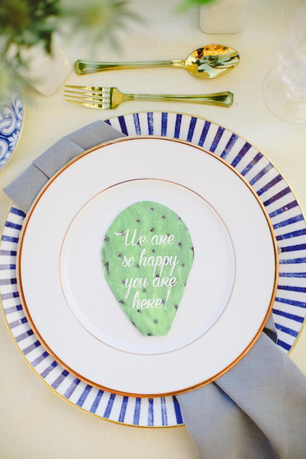Wedding tablescape detail - cacti