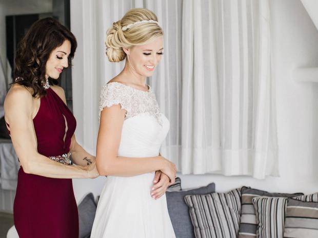 Bride getting ready- destination wedding