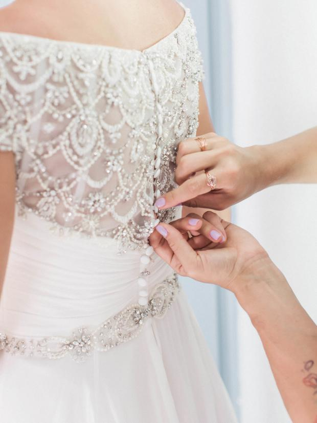 Bride getting ready- destination wedding