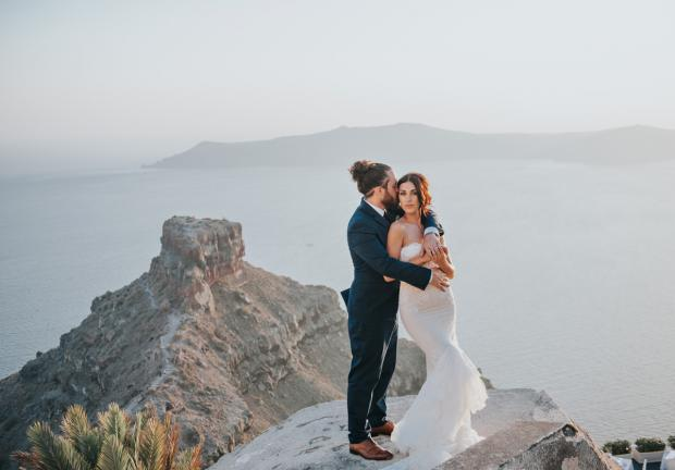 Santorini destination wedding- Tie the Knot