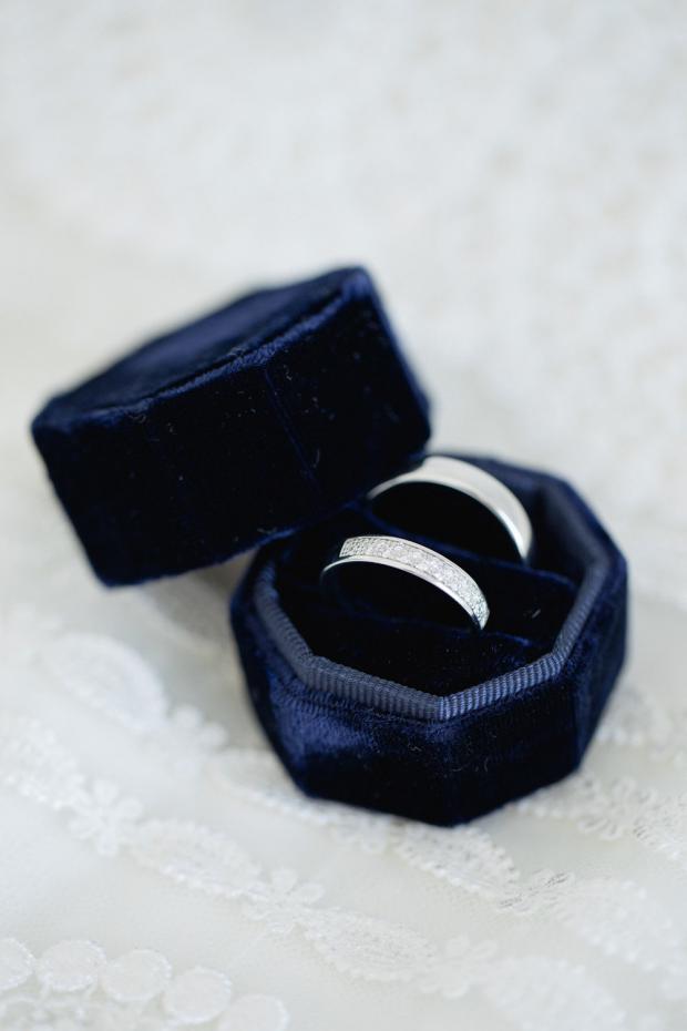 Velvet ring case