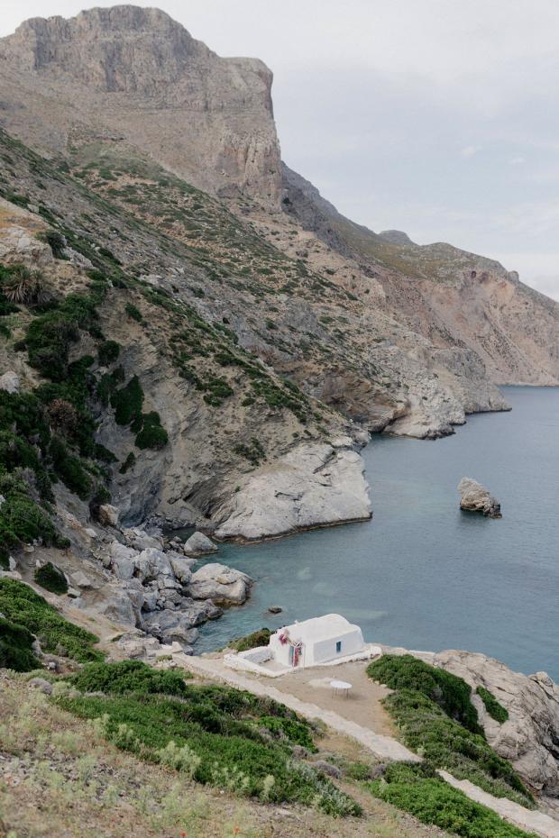 Wedding in Amorgos Greece- Agia Anna