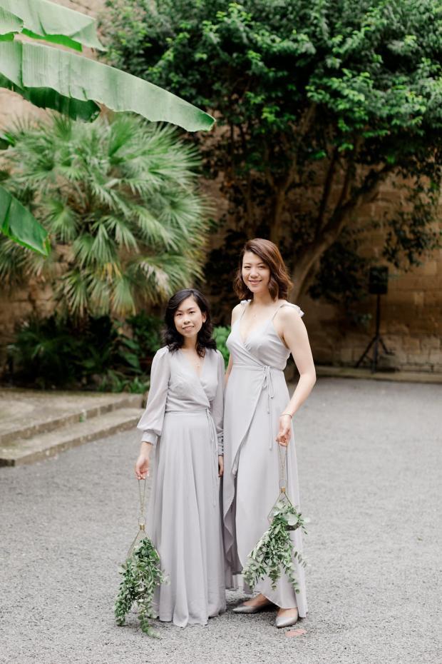 Wedding in Italy- Alternative bridesmaids bouquets