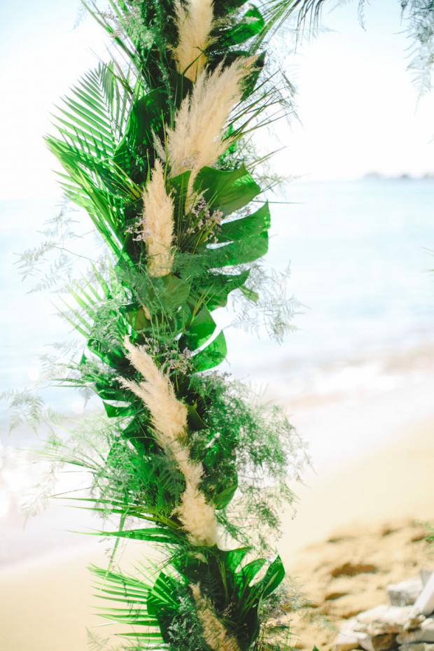 Botanical wedding  arch - Tie the knot in Santorini