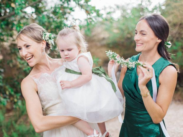 Flower girl- Greenery wedding