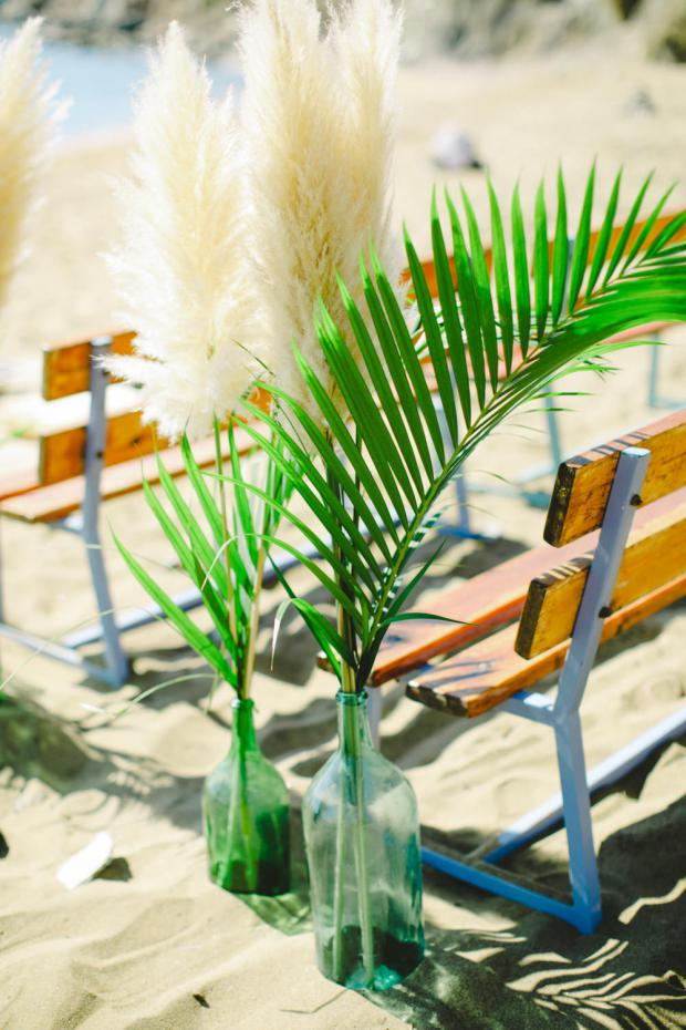 Tropical wedding aisle -beach wedding