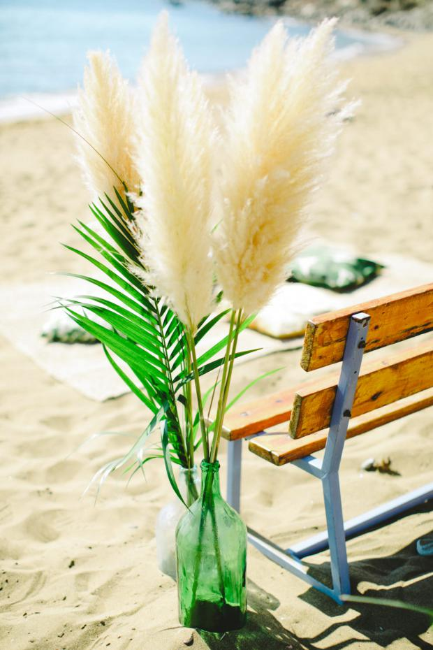 Beach wedding aisle -surf wedding