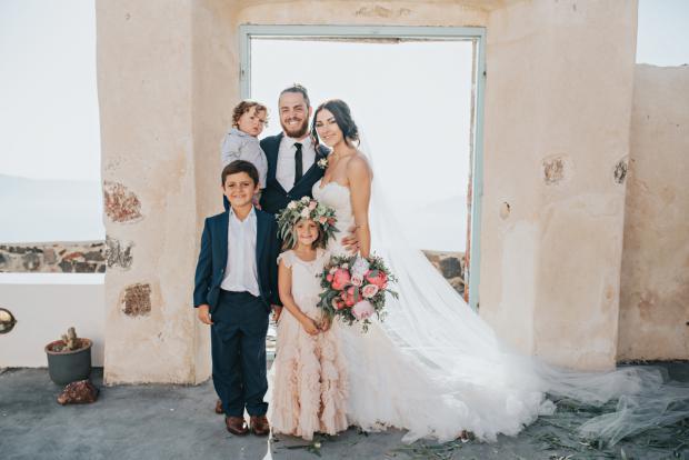 Wedding family- Santorini wedding