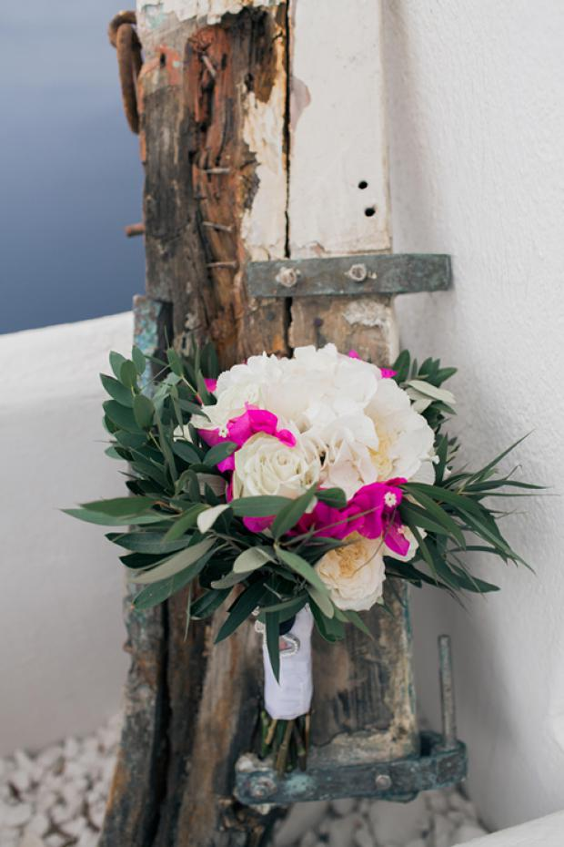 Bougainvillea wedding bouquet- Grecian wedding