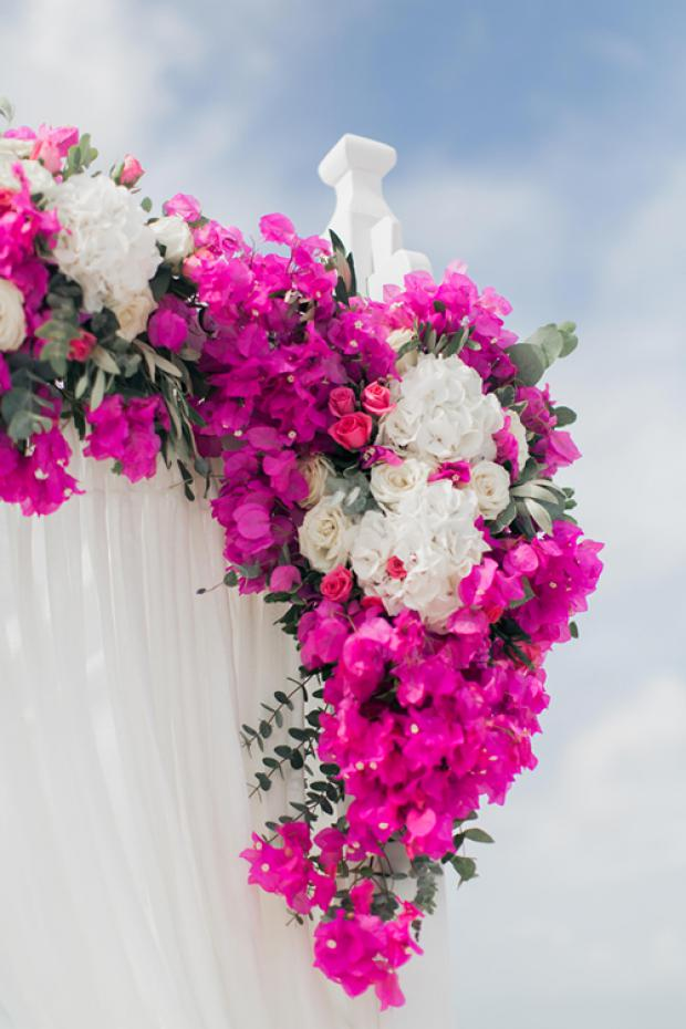 Wedding ceremony-pink flowers